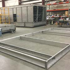 Cyrco foundation base fabrication of Stainless XFS Splash Cooling Tower