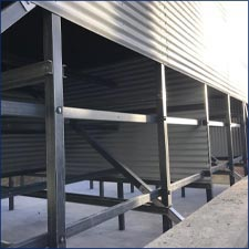 Cyrco FRP Square Tube Shear Bushing in Cooling Tower Construction Framing