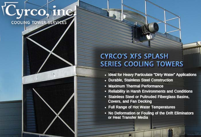 Cyrco's XFS Splash Film Series Cooling Towers