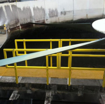 Cooling Tower Fiberglass FRP Decking with Railing