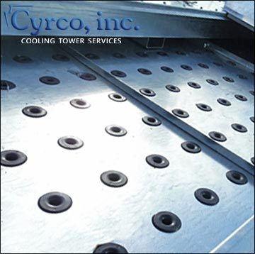Cyrco replacement hot water basins cooling towers