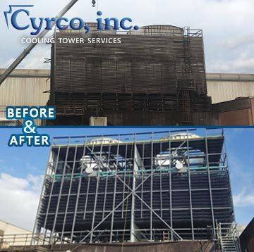 Complete Rebuild Old Field Erected Cooling Tower