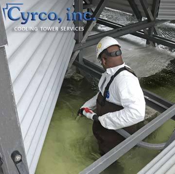 Cooling Tower Cold Water Basin Vacuuming Sludge