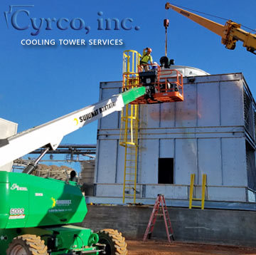 Cyrco Employees Lift and Crane Cooling Tower
